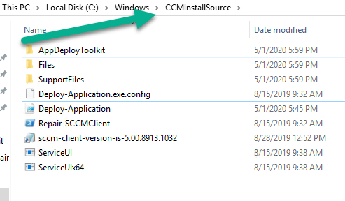 Local install SCCM client