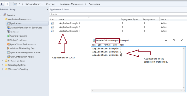 SCCM application persona and profile