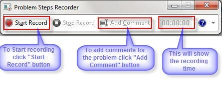 Problem Steps Recorder
