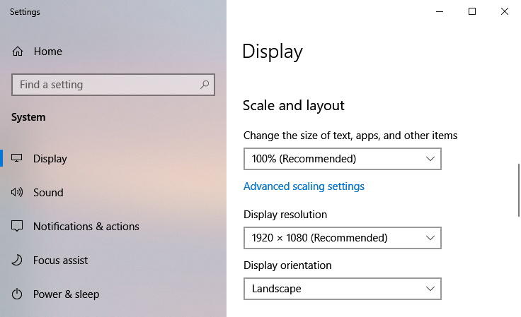 wallpaper screen resolution set to 1920 x 1080