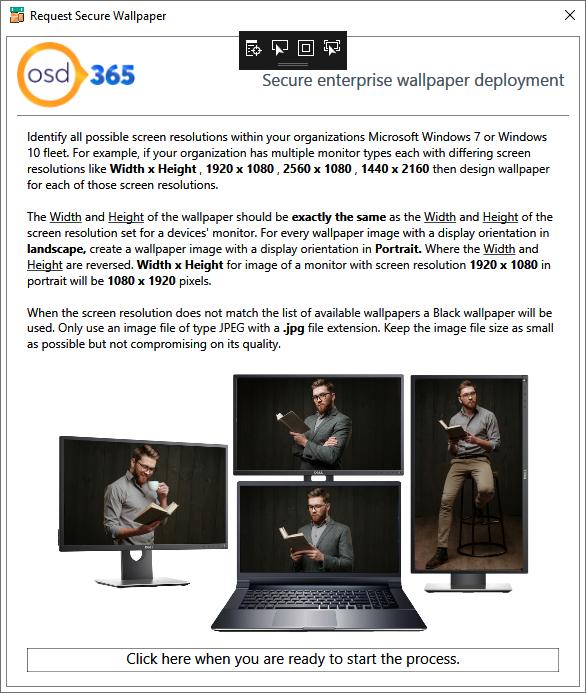 Secure wallpaper deployment using SCCM