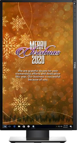 WPSecure Enterprise Christmas wallpaper deployment